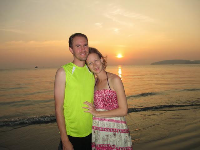 sunset over Ao Nang beach