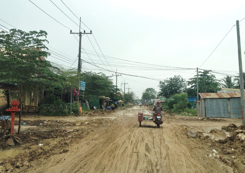 This is one of the main streets in Poipet - and the best one leading to the city's hospital
