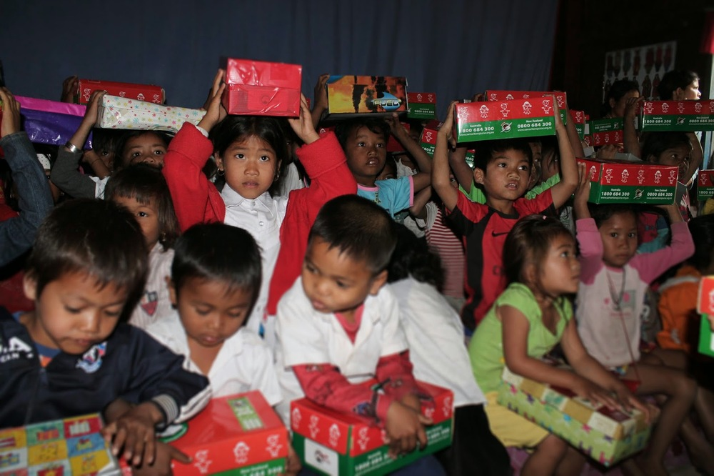 Samaritan's Purse Operation Christmas Child Shoebox Distribution in Cambodia