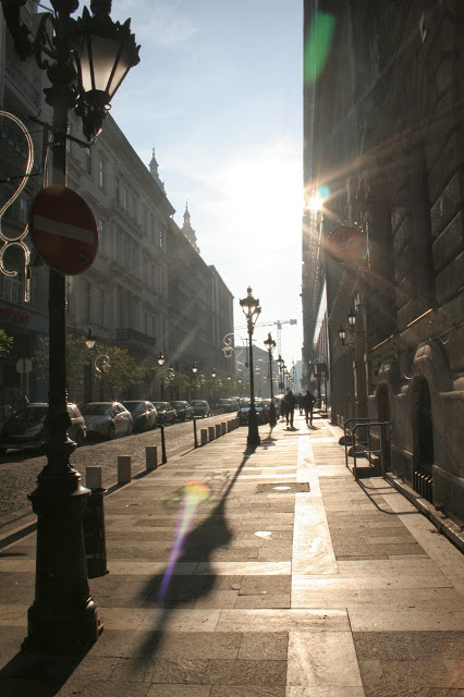 The streets of Budapest, Hungary