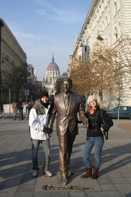 Budapest, Hungary - statue of Ronald Reagan - travel photos from Journey Mercies