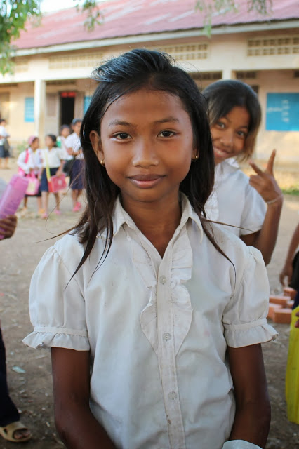 Cambodian children at a school where Samaritan's Purse works