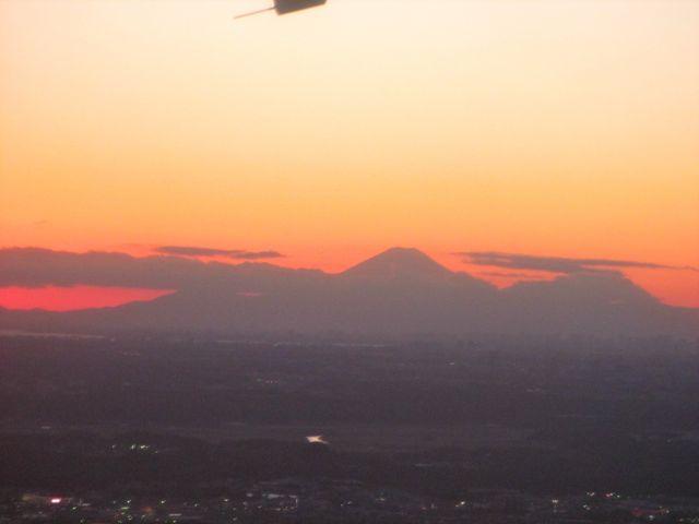 Tokyo, Japan - mountain sunset