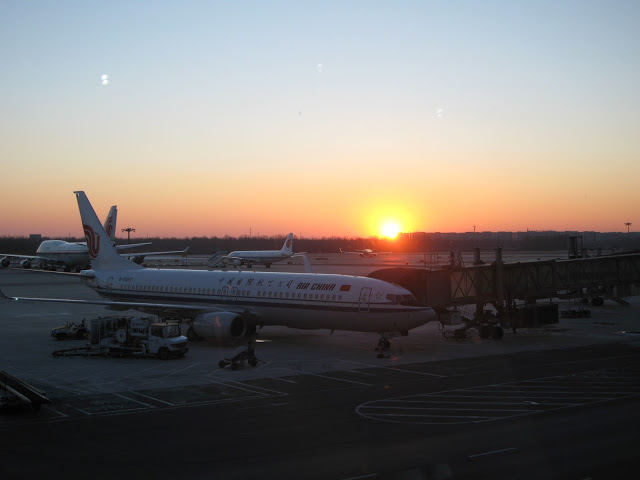 Sunrise at Beijing Airport, China