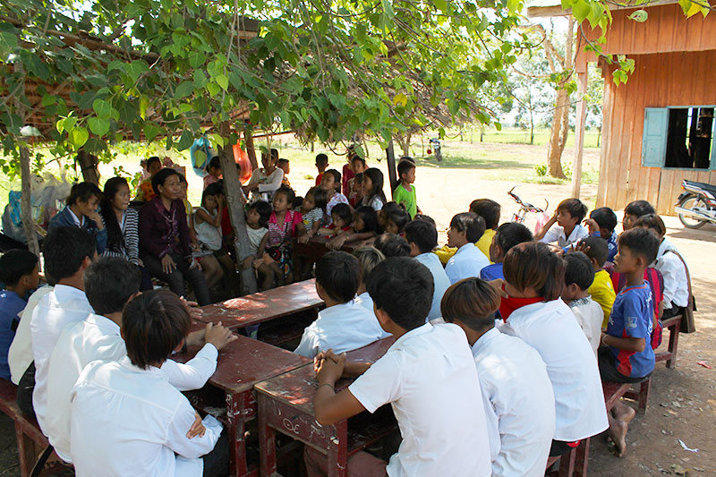 Meeting with the school children
