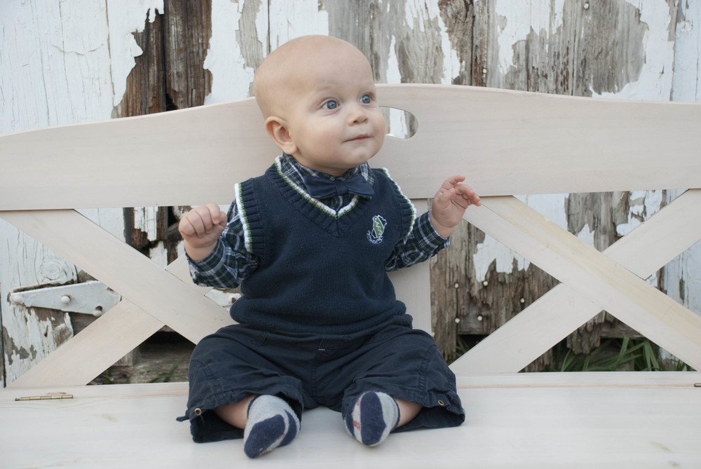One big win this month was getting family photos taken - here's one of the little guy