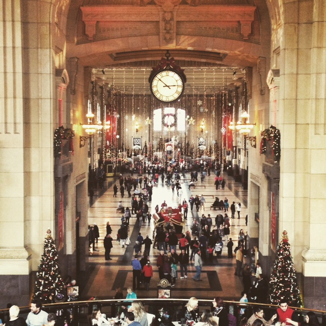 Union station in Kansas city is a great place to celebrate christmas and the new year