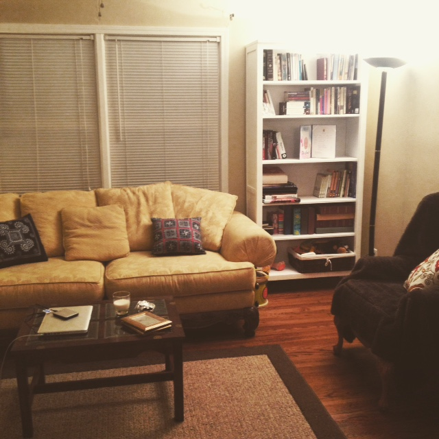 i'll probably be spending a lot of time enjoying this corner of our living room...