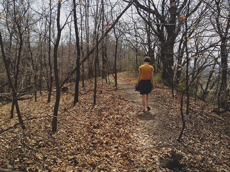 Hiking the trails in my trusty tevas