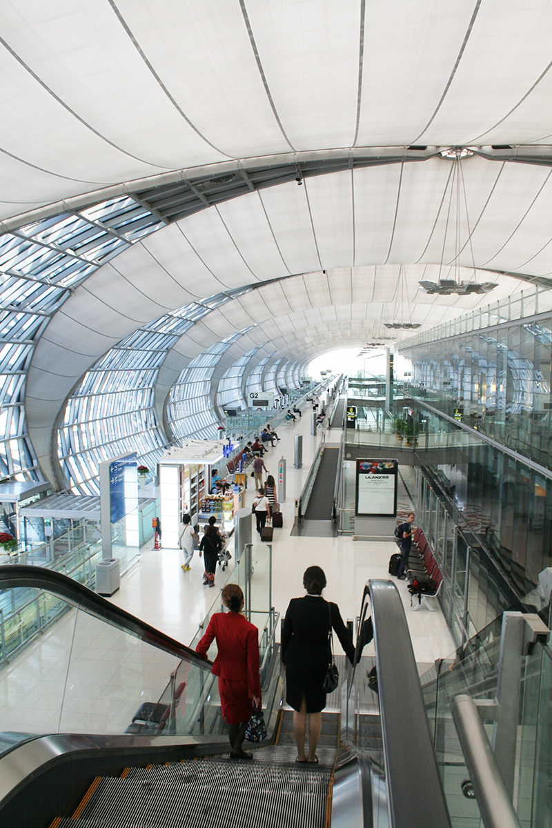 Inside Suvarnabhumi airport, Bangkok