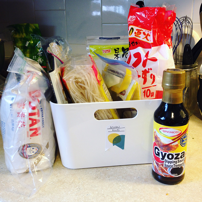 Bonus tip - keep your asian ingredients together in a separate bin or pantry to make cooking prep fast and easy