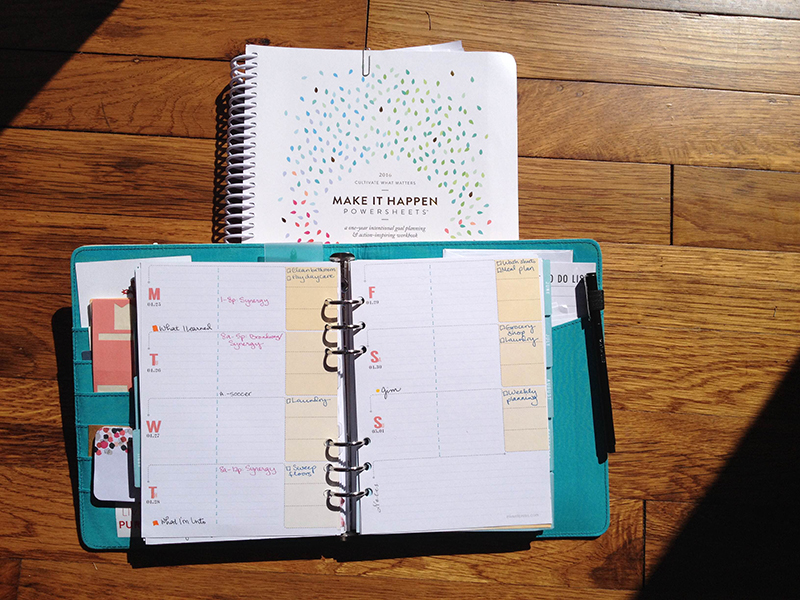 My two main resources in getting life done -  inkwell press planner  and  powersheets workbook