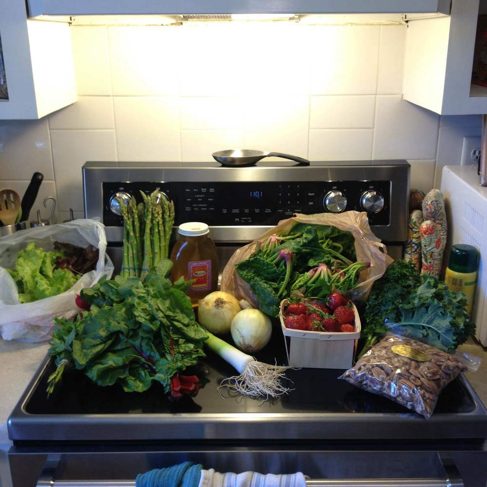 One of our week's hauls from the market