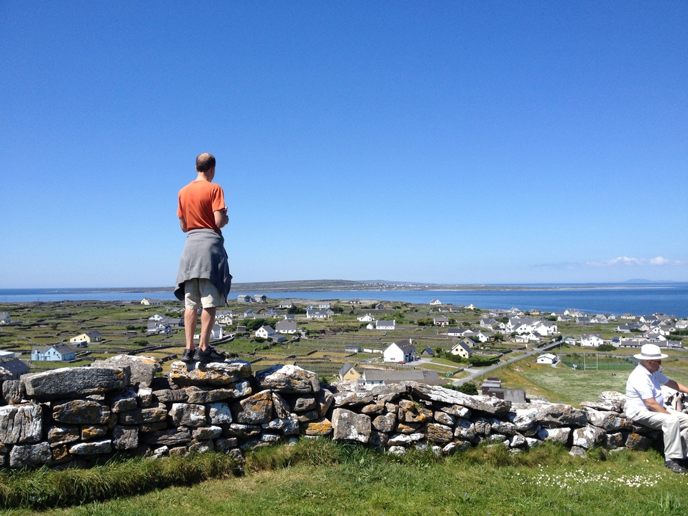 Overlooking the island of Inisheer