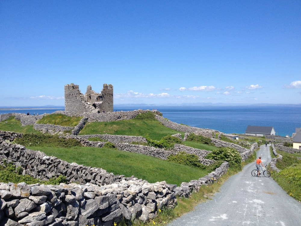 Checking out the 15th-century Fort on the ISland of Inisheer