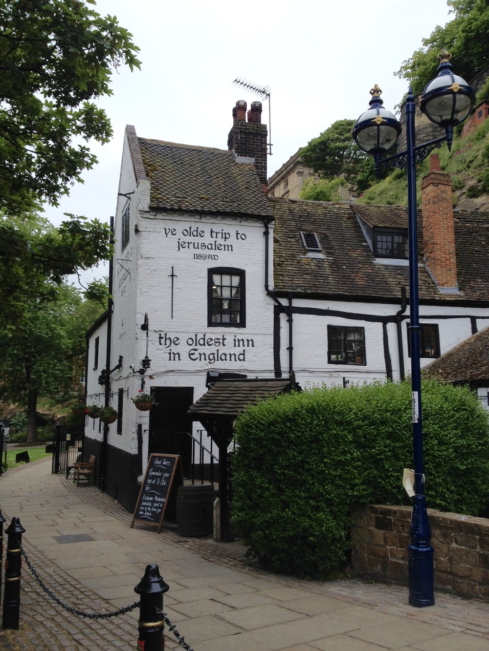 Ye Olde Trip to Jerusalem Pub - a pub has been on these grounds since the 1000's A.D.