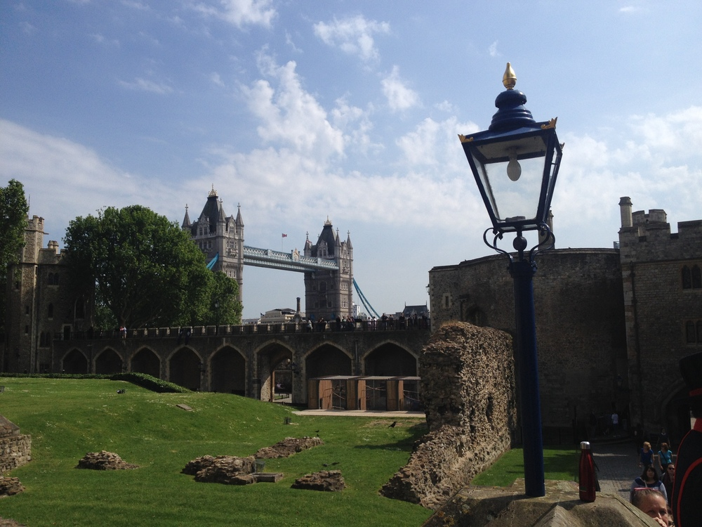 The view of the Tower Bridge from inside the grounds