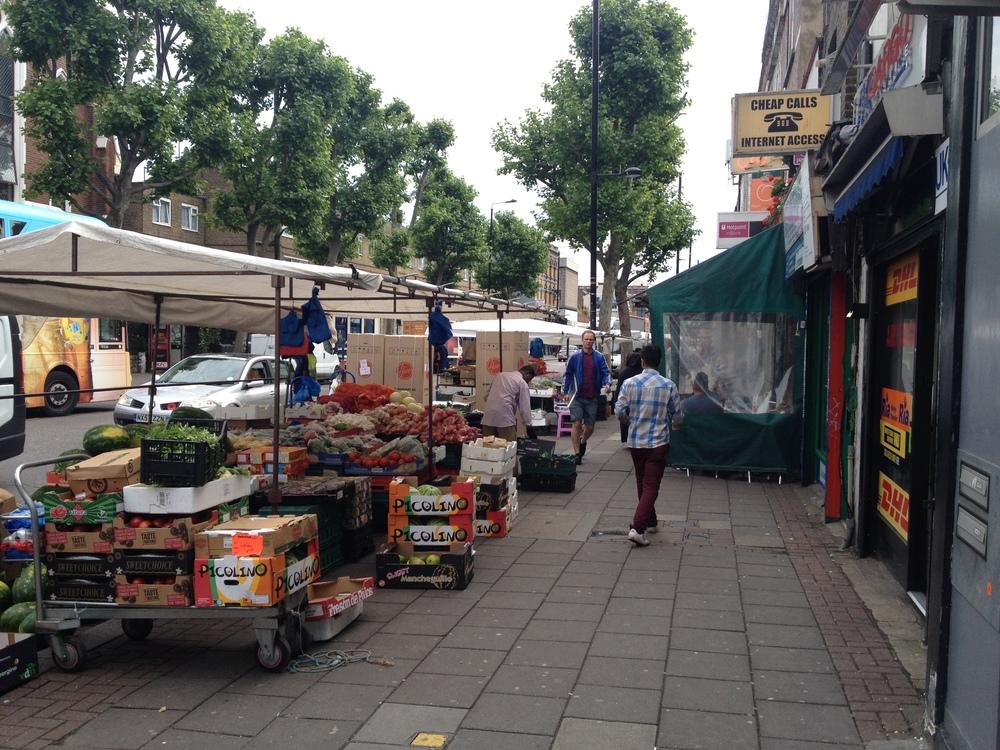 Street Scene outside E. Pellici