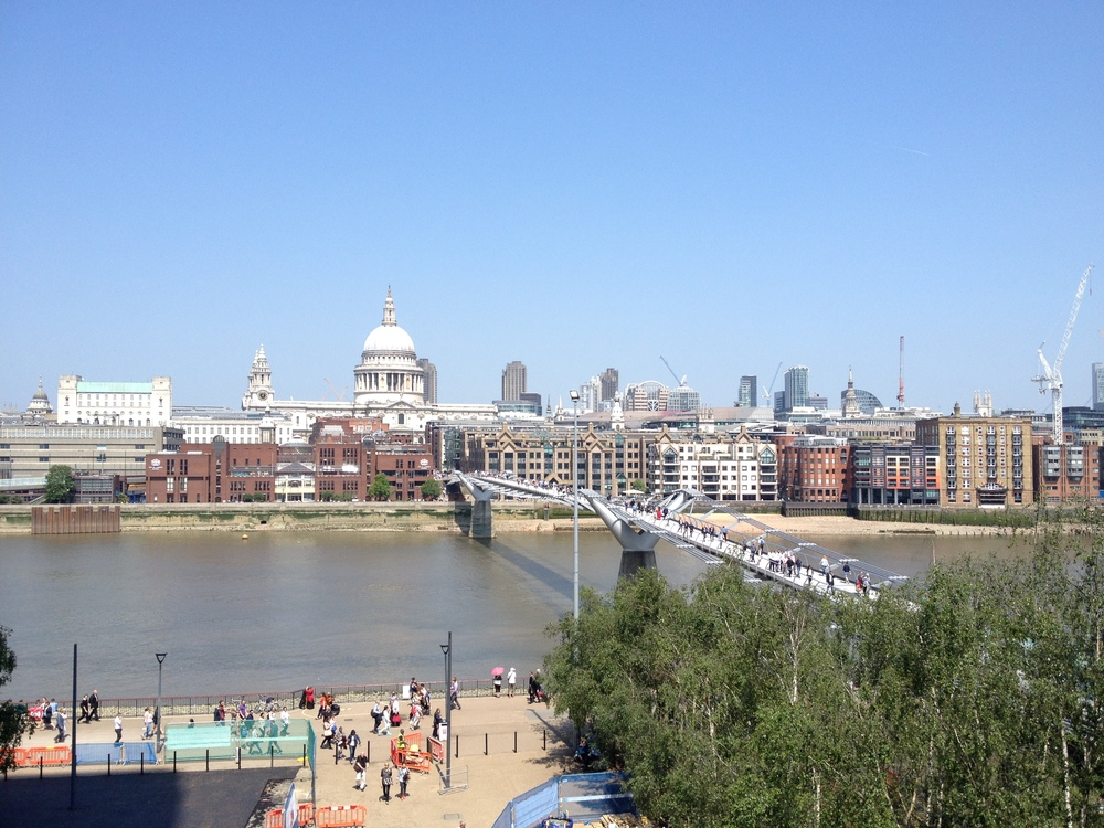 View of the Millenium Bridge over the THames River