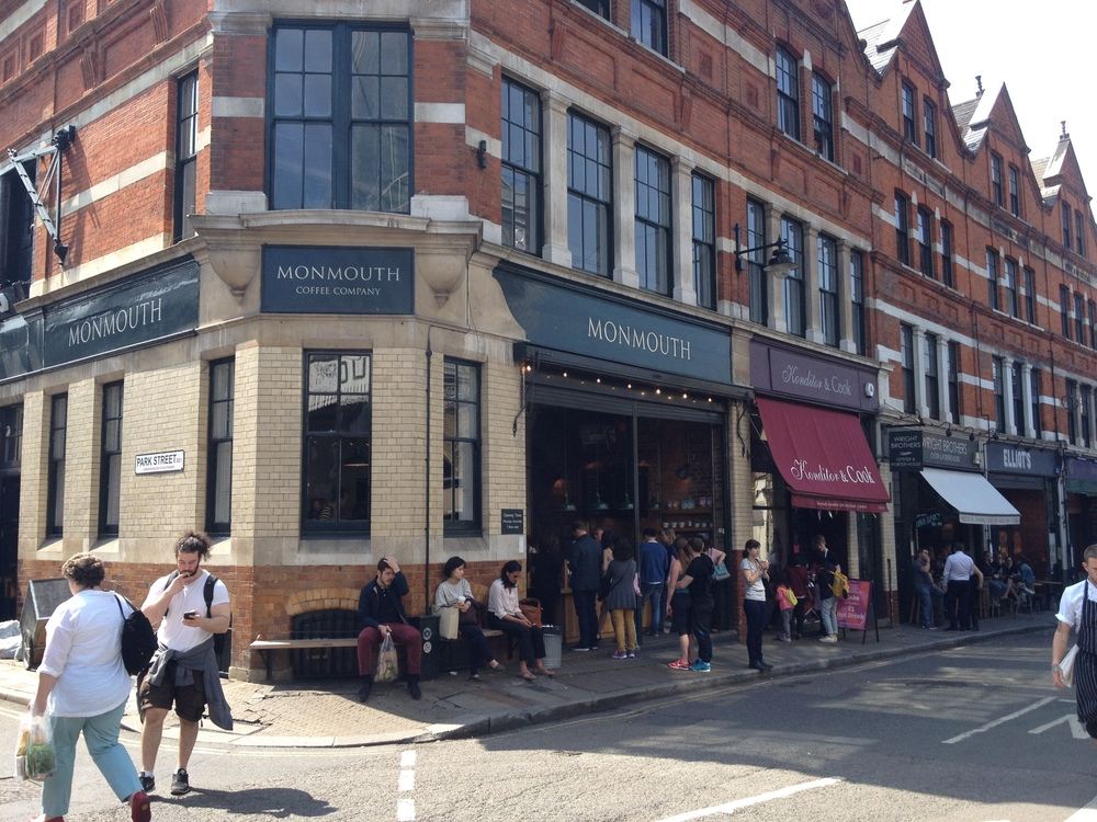 Monmouth Coffee - a Great stop outside Borough Market. Skip the latte line and just buy some beans (with a free taster)