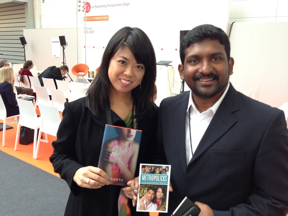 Felicia Lin and   Ananth  , author of PLAY WITH ME, a best selling book in India.