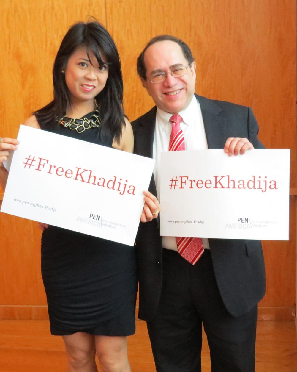 ‪ #FreeKhadija #Baku2015 #PENAwards