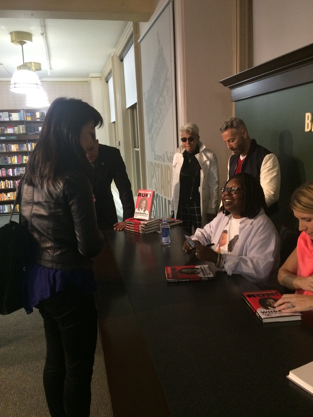Felicia meeting Whoopi and telling her a bit about Metropolicks.