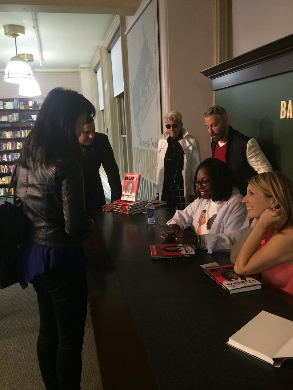 Felicia Lin, Whoopi Goldberg and Nicolle Wallace