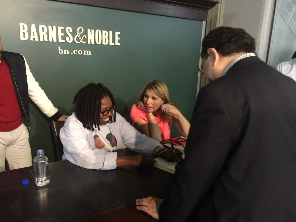 Victor also had Whoopi sign a copy of her new book for him.