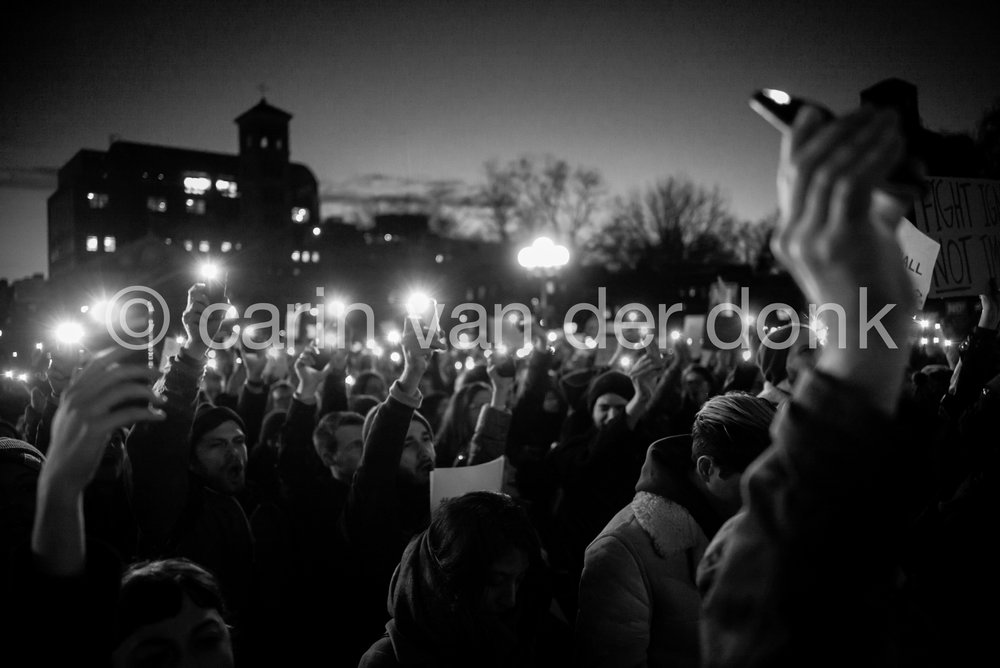 "Pro-Immigration Rally, January 25th 2017 Washington Square Park 8"" x 12"""