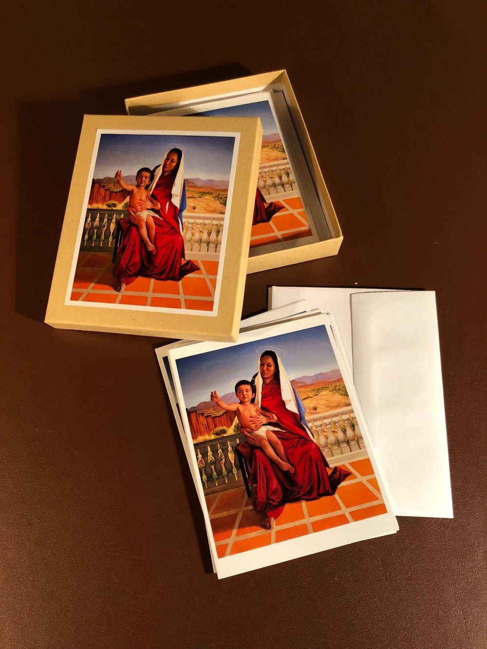 Madonna and Child at the Border Card Set