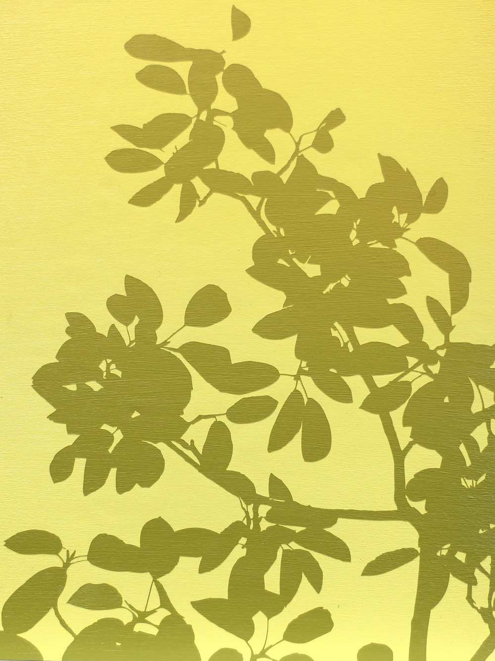 "SOLD!Yellow Silhouette II 9"" x 12"""