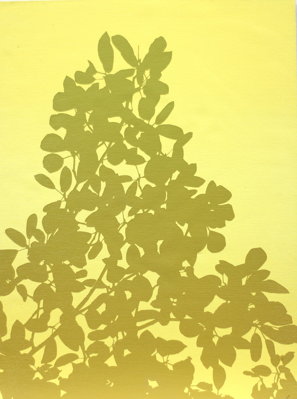 "Yellow Silhouette I 9"" x 12"" by Ben Cowan"