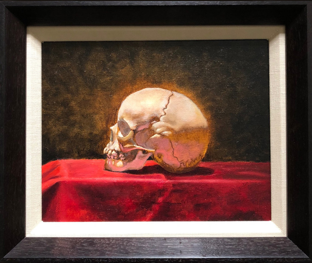 SOLD! Skull and Red Velvet by John Britton