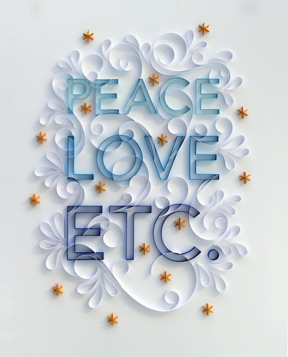 "Peace Love Etc  24"" x 30"" Framed $5,000"