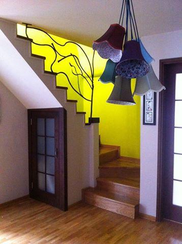 Unikatna zastitna ograda za stepeniste, kovano gvozdje, privatna kuca - Beograd.    Rad Nikole Pantovica