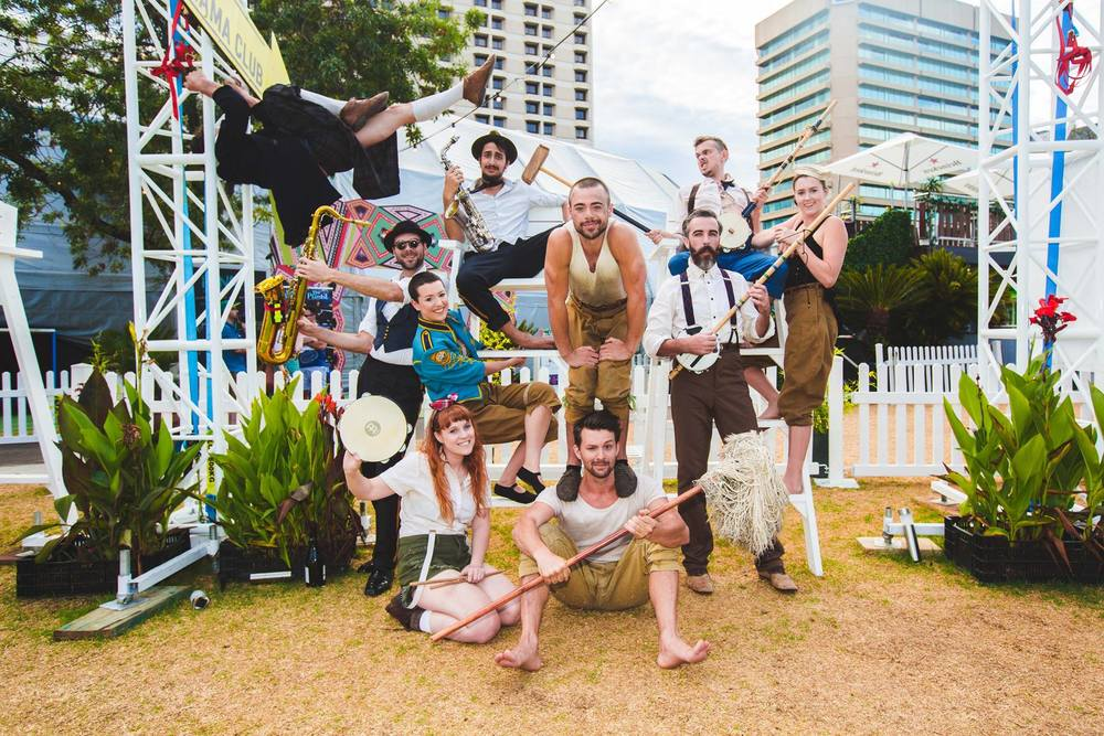 Scotch & Soda cast at Royal Croquet Club,