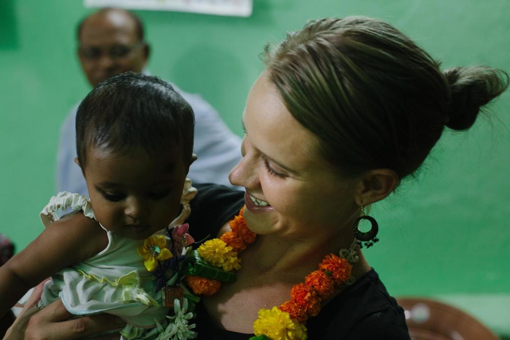 Salinas forkvinde, Lea Sorth,på besøg i støttecentret i Mumbai,marts 2016.