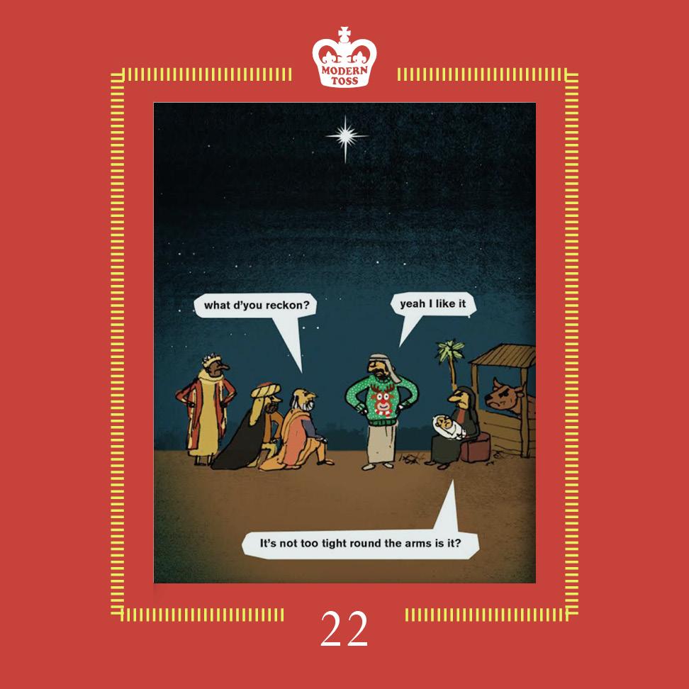 Better than a lump of fucking myrrh yeah?    Christmas Jumper card