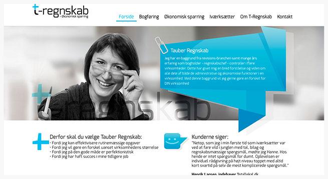 Revisor Hanne Tauber stiftede i 2013 egen virksomhed, Tauber Regnskab. Ved årsskiftet lancerede Hanne en ny hjemmeside og jeg havde besøg af hende i fotostudiet 1 times tid, hvor vi lavede et par profilfotos til blandt andet hjemmesiden og nye visitkort.