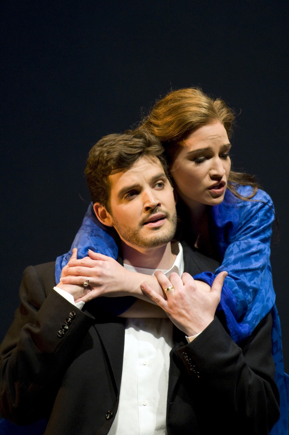 With Kate Lindsey in Seattle Opera production of <i>Amelia</i>; photo by Rozarii Lynch