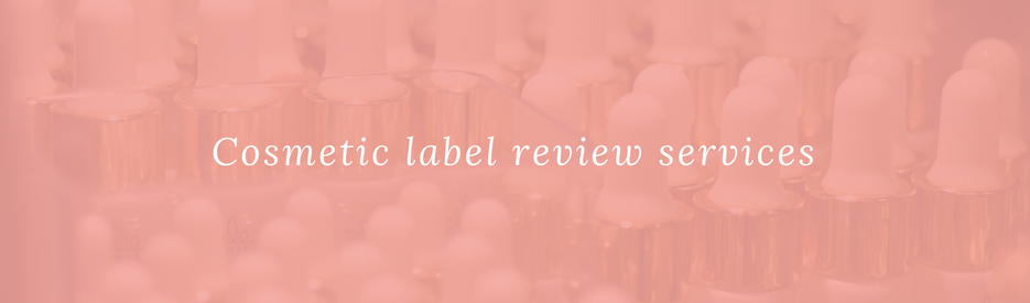 Regulatory services for cosmetic labelling beauty products in Australia