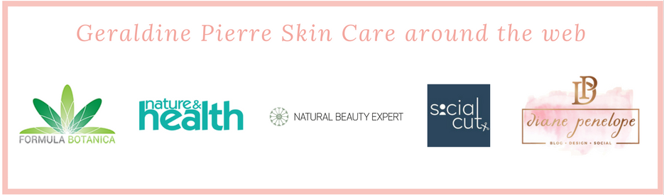 Geraldine Pierre Skin Care around the web and featured in
