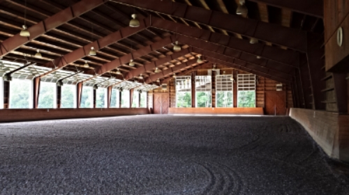 100x200 attached indoor ring with state of the art sand,rubber & cloth material footing
