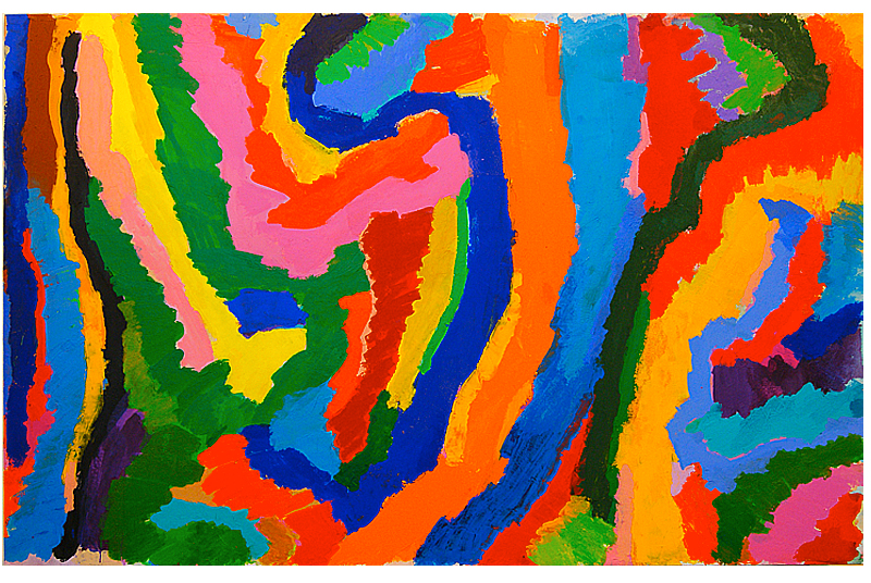 """""""Credu"""" 2014, acrylic on canvas: 171cm x267cm"""