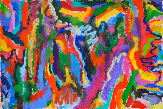 """""""Early"""" 2014, acrylic on canvas: 170cm x 280cm"""