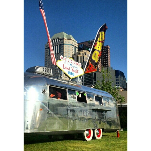 Be sure to stop by the @colsfoodtruckfest today or tomorrow @columbuscommons to get yourself some of the best #BBQ you've ever had! - #AsSeenInColumbus #SoColumbus #FoodTruck #Festival #Airstream #Columbus #LiveRiveted #ColsFoodTruckFest