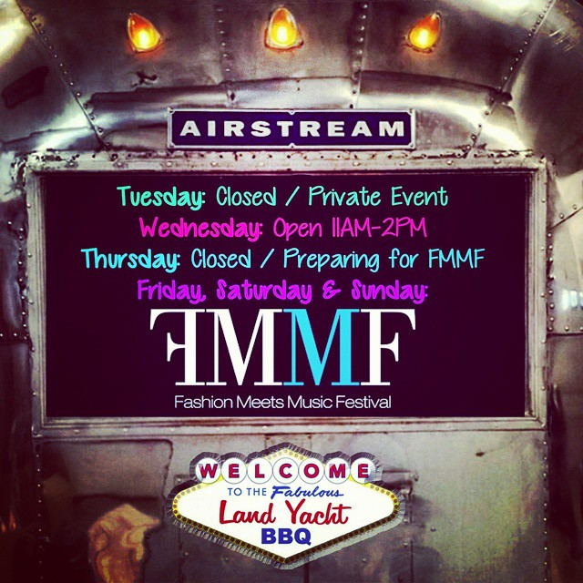 In preparation for the @fmmfestival we will be open during special hours this week. Be sure to get your tickets while you still can at www.fmmf.us . We will be serving up the best #bbq you've ever had! Don't miss out! - #AsSeenInColumbus #SoColumbus #AirstreamFoodTruck #Airstream #LiveRiveted #Columbus #Ohio