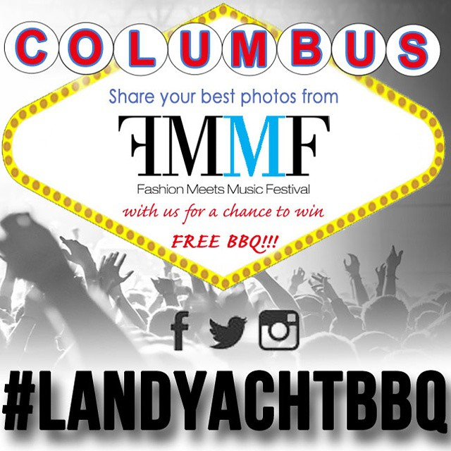 If you're @fmmfestival this weekend in downtown #Columbus stop by and say hi! Be sure to tag your photos w/ #LandYachtBBQ for a chance to win FREE #BBQ!!! #AsSeenInColumbus #SoColumbus  #AirstreamFoodTruck #FoodTruck  #Airstream #LiveRiveted
