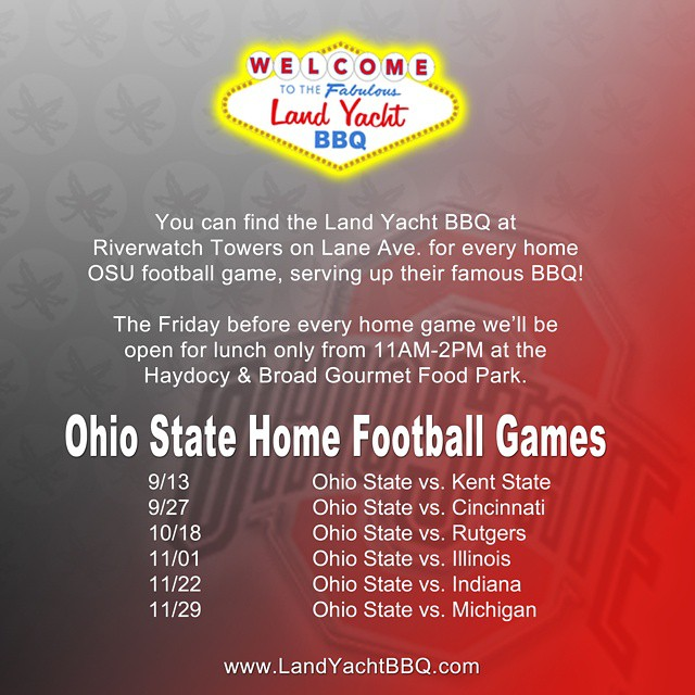 Stop by and visit us at #Riverwatch Tower for every home #OhioState #football game! The Friday's before each home game we'll be @haydocyandbroad for lunch only from 11am-2pm. - #AsSeenInColumbus #SoColumbus #AirstreamFoodTruck #LiveRiveted #Cincinnati #KentState #Rutgers #Illinois #Indiana #Michigan